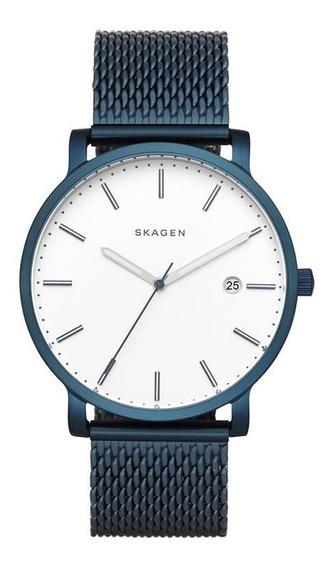 Relógio Skagen Masculino Skw6326/4bn Slim Azul Pulseira Mesh