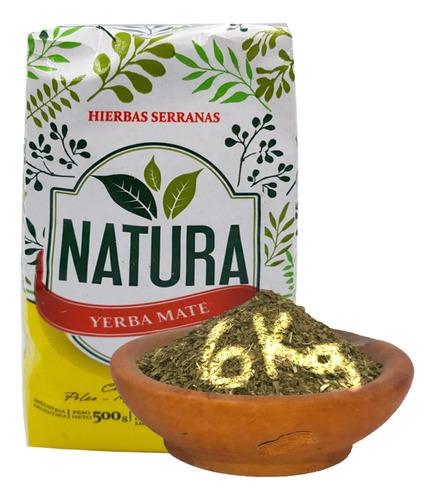 Yerba Mate Natura 12 U 1/2 Kg  Menta Perina Serrana X Mayor