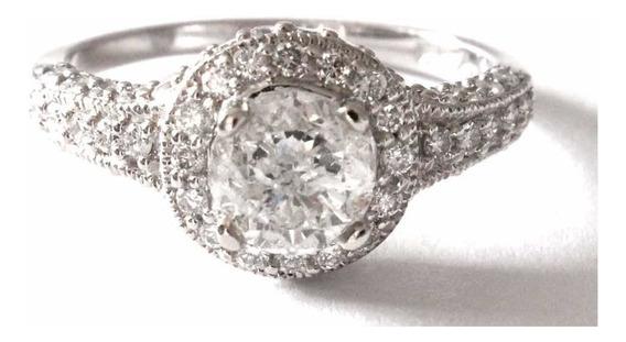 Anillo De Compromiso 1.59 Quilates Peso Total En Diamantes
