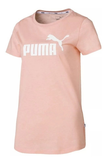 Puma Remera M/c Lifestyle Mujer Essentials Heather