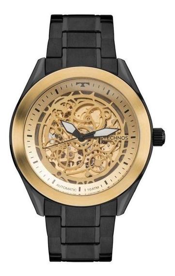 Relógio Masculino Technos Automático 8n24ai/4x Preto/dourado