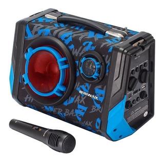 Caixa de som Briwax FBX-105 portátil sem fio Preto/Azul 110V/220V