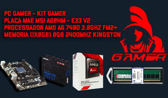 Kit Pc Gamer Msi A68hm-e33 V2 + Amd A6 7480 Mem. Ddr4 8gb Ki