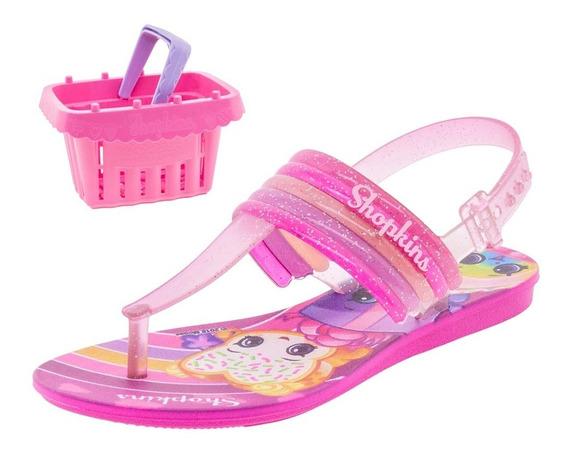 Sandália Infantil Feminina Shopkins Rosa Grendene Kids - 219