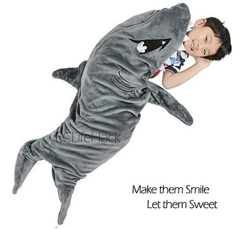 Imagen 1 de 9 de Cobija Tiburon Para Niños Cozy Snuggie