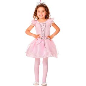 Roupa De Bailarina Para Criança Menina Vestido Com Coroa