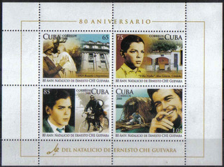 Estampillas 80º Aniv Natalicio Del Che Guevara