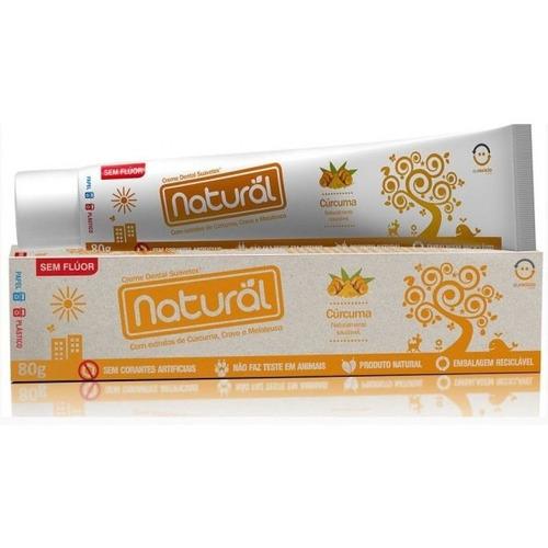 Creme Dental Natural Suavetex Com Extratos De Cúrcuma, Cravo