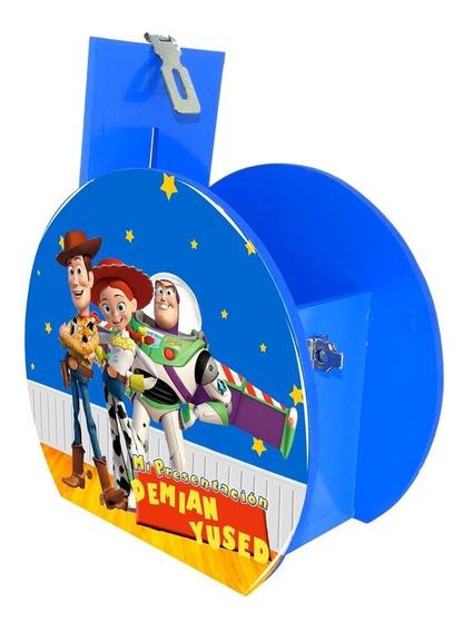 6 Alcancía Dulcero Centro De Mesa Toy Story Azul Personaliza