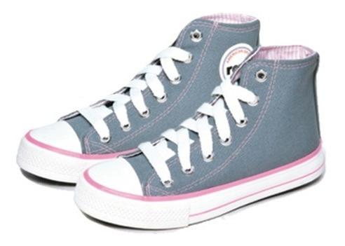 Zapatillas Calzados Rave Gris Rosa
