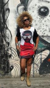Vestido Curto Moda Afro 4 Peça Tamanho Unico Veste Do 38a44