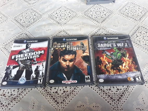 Lote Dead To Rights+army Men+freedom Fighters Game Cube Wii