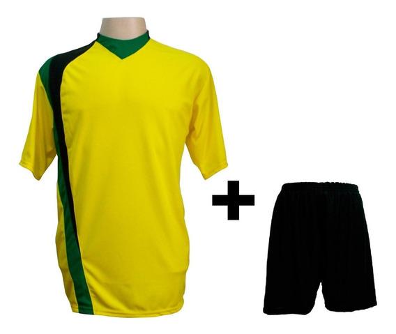 Uniforme 14 Camisas Psg Am/pto/ver + 14 Calções Madrid Preto