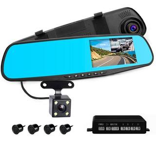 Kit Espejo Retrovisor 1080p + Sensores De Estacionamiento