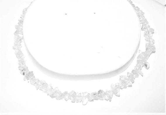 Collar Piedra : Original Natural Cuarzo Original Claro