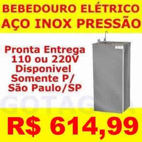 Bebedouro De Pressão Refrigerado Inox - 1 Ano De Garantia