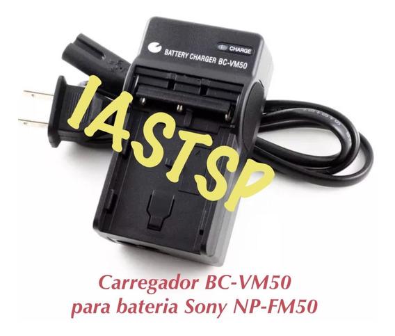 Carregador Bc-vm50 Para Baterias Sony Np-fm50 Fm55 Fm500h