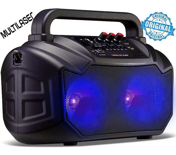 Caixa De Som Bluetooth Usb Sd Rádio Fm Alça Transporte P2