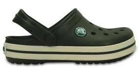 Zapato Crocs Unisex Infantil Crocband Verde Militar