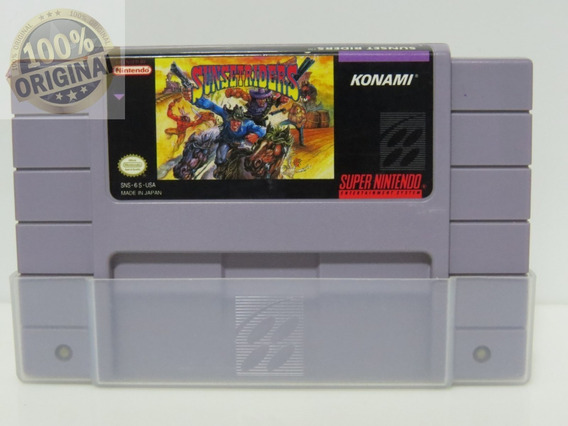 Cod 50 Sunset Riders Snes Original 100% Americano Nintendo
