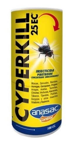Imagen 1 de 4 de Cyperkill 25ec 50ml Insecticida Plagas Interior Exterior Tps