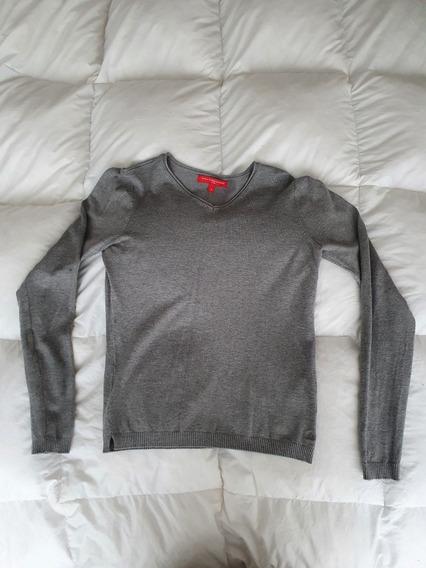 Sweater Gris Escote V Niño Paula Cahen Danvers Talle 12