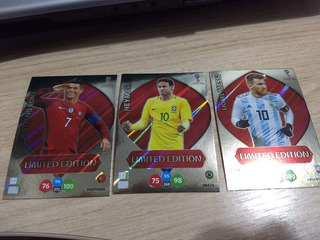 3 Card Copa 2018 Limited Edition Messi Cr7 E Neymar S/número