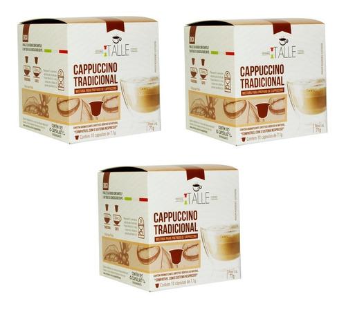 Kit 30 Capsulas Cappuccino Compatíveis Nespresso/cafe Italle