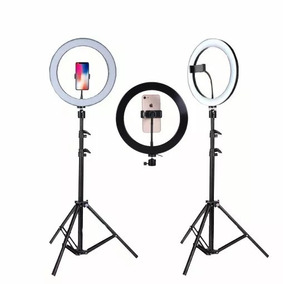 Kit Iluminador Ring Light C/ Tripé Para Maquiadores Ect
