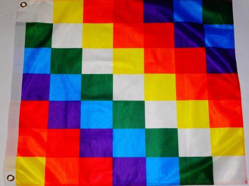 Imagen 1 de 1 de Bandera Whipala Pueblos Originarios / Barbazar