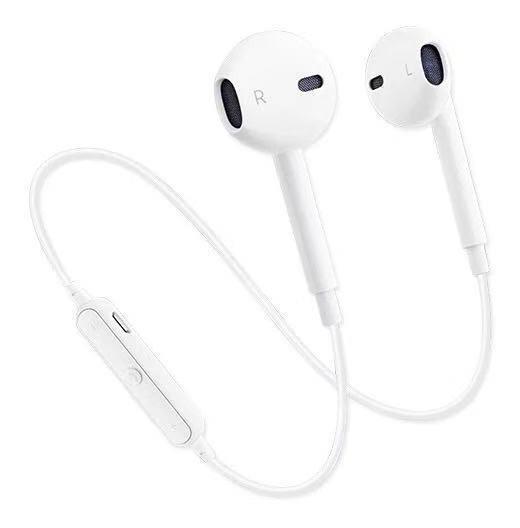 Branco S6 Fone De Ouvido Bluetooth Esportes Fone De Ouvido 4