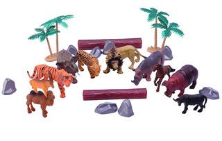 Animales Muñecos De Selva X 22 Piezas En Frasco Duende Azul