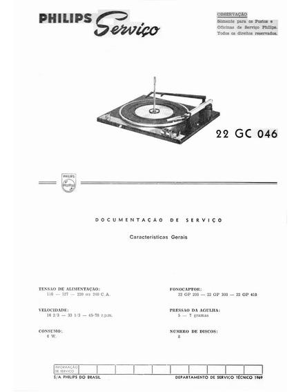 Philips - Manual De Serviço 22gc046 Toca Discos