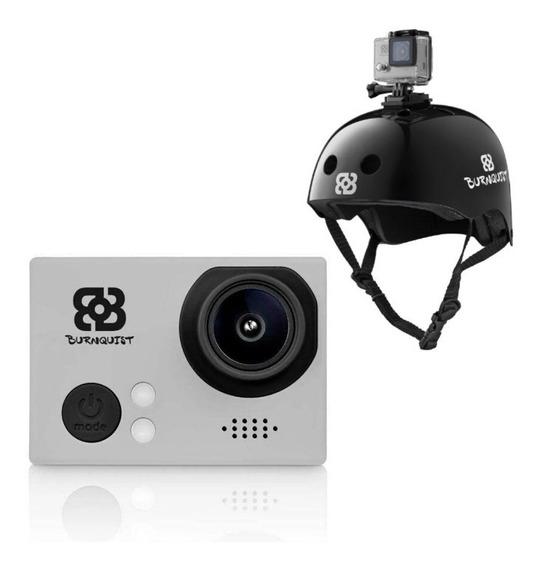 Camera De Ação Vídeo Hd C/ Capacete Premium Burnquist Webcam