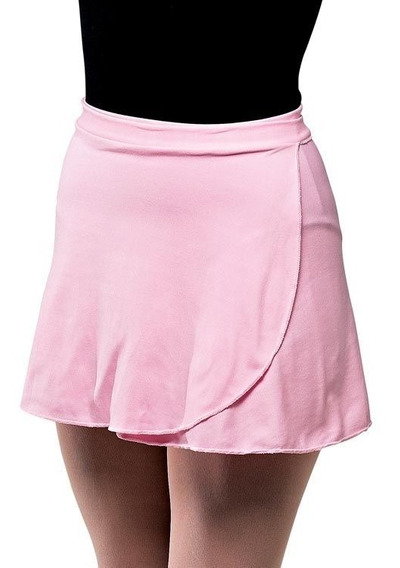 Saia Longa Ballet Capezio - Rosa Modelo Jersey - Infantil