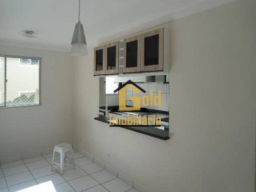 Imagem 1 de 13 de Apartamento Com 2 Dormitórios À Venda, 47 M² Por R$ 190.000,00 - Parque Industrial Lagoinha - Ribeirão Preto/sp - Ap1396