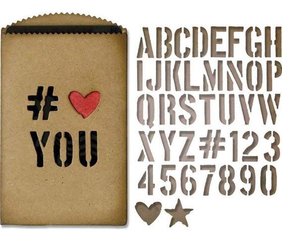 Alfabeto Suaje Corte Thinlits Letras Papel Sizzix Big Shot