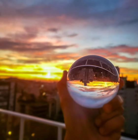 Bola Esfera De Cristal Similar Lens Ball 100 Mm