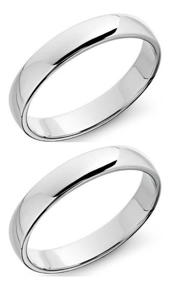 Argollas Matrimoniales De Plata Con Chapa Oro Y Rodio