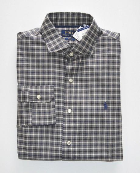Camisa Social Polo Ralph Lauren Tamanho Gg Xl Slim Fit Justa