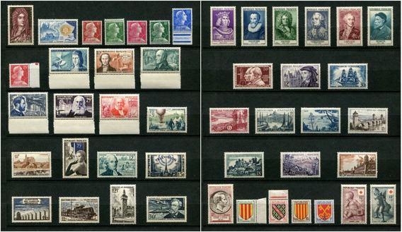 Sellos Francia Año 1955 Completo Yvert 1008-1049 Mnh