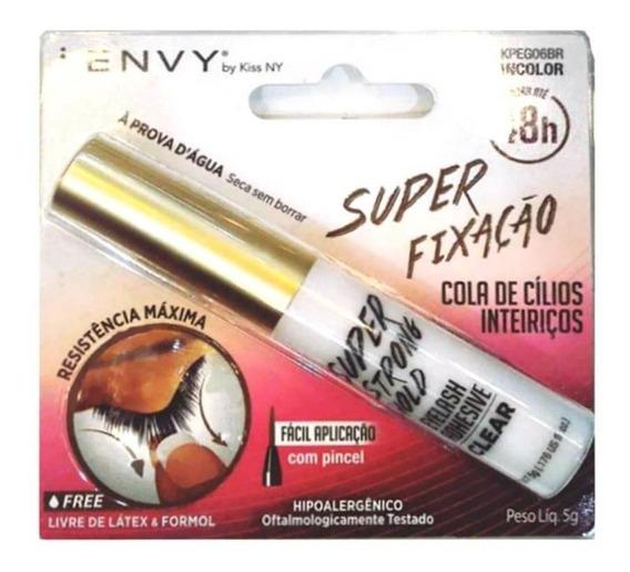 Kiss New York Cola Para Cilios 48h Super Fixação Incolor 5g