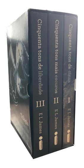Box Trilogia 50 Tons De Cinza - E L James - 3 Livros