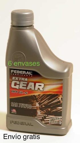 Aceite Federal 75w90 6lt Aprox Gl5 Autobloqueo Envío Gratis
