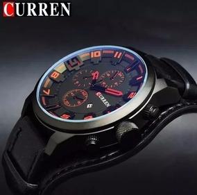 Relógio Masculino Curren Original Casual Pulseira Couro Luxo