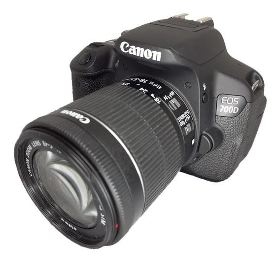 Câmera Canon 700d T5i Semi Nova Perfeita + 18-55mm