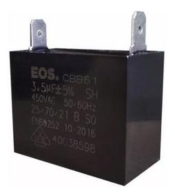 Capacitor 3,5uf 450vac Cbb61 Ar Condicionado Kit 10 Peças