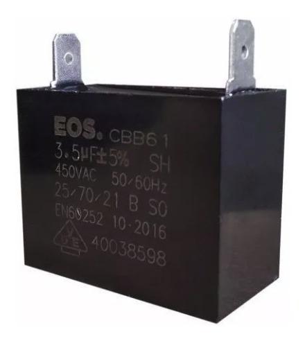 Capacitor 3,5uf 450vac Cbb61 Ar Condicionado Kit 7 Peças
