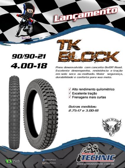 Pneu 4.00-18 Tk Block - Café Racer Bobber, Custom Scrambler