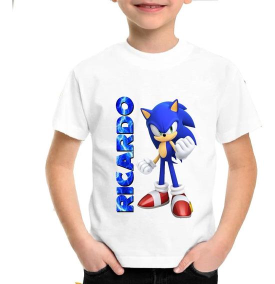 Sonic Película Playera Camiseta Estampada Personalizada Niño